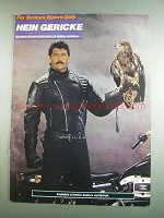 1984 Hein Gericke Riding Leathers Ad - Serious