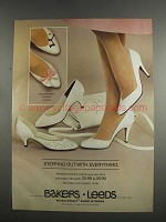 1984 Bakers Leeds Shoes and Handbag Ad