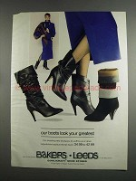 1984 Bakers Leeds Boots Ad - Look Your Greatest