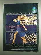 1984 L'eggs Sheer Energy Control Top Pantyhose Ad