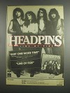 1984 Headpins Line of Fire Album Ad