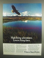 1984 Princess Tours Alaska Ad - High-Flying Adventures