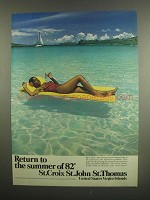 1984 United States Virgin Islands Ad - Return to Summer