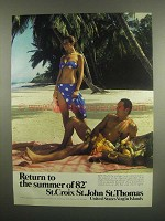 1984 United States Virgin Islands Ad - Summer of 82