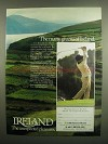 1984 Irish Tourist Board Ad - Many Greens of Ireland