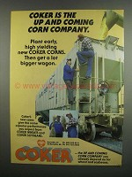 1984 Coker Corn, Wheat and Soybeans Ad - Up and Coming
