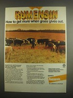1984 Elanco Rumensin Ad - When Grass Gives Out