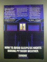 1984 Ciba-Geigy Subdue Ad - Avoid Sleepless Nights