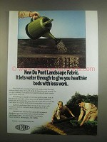1984 Du Pont Landscape Fabric Ad - Lets Water Through