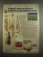 1984 Du Pont Lorox L Weed Killer Ad - Solves Problems