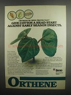 1984 Ortho Orthene 80 Seed Protectant Ad - Cotton