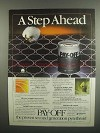 1984 Cyanamid Pay-Off Insecticide Ad - A Step Ahead