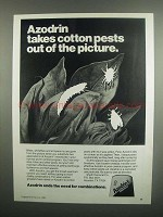 1984 Shell Azodrin 5 Insecticide Ad - Cotton Pests