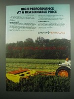 1984 Sperry New Holland 472 Haybine Mower Ad