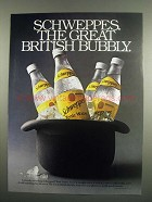 1984 Schweppes Tonic Water Ad - British Bubbly