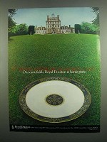 1984 Royal Doulton Carlyle Porcelain Ad - Home Plate