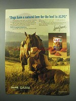 1984 Alpo Beef Chunks Dinner Dog Food Ad - Lorne Greene