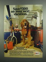 1984 Alpo Dog Food Ad - Save $300 On Next Vacation