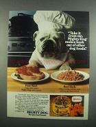 1984 Carnation Mighty Dog Food Ad - Take it From Me
