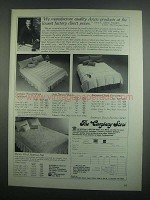 1984 The Company Store Ad - Bavarian Down Comforter