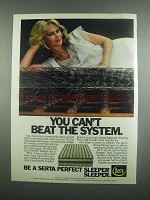 1984 Serta Perfect Sleeper Mattress Ad - The System