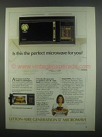 1984 Litton LittonAire Generation II 8090 Microwave Ad