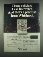 1984 Whirlpool Power Clean Energy Saver Dishwashers Ad