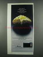 1984 Amana Mastercook Radarange Oven Ad - Potatoes