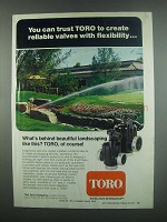 1984 Toro Irrigation Products Ad - Reliable Valves