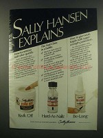 1984 Sally Hansen Kwick Off, Hard-as-Nails & Be-Long Ad
