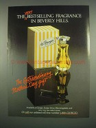 1984 Giorgio Perfume Ad - Best-Selling in Beverly Hills