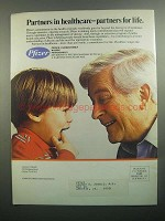 1984 Pfizer Laboratories Ad - Partners in Healthcare