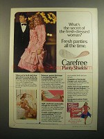 1984 Carefree Panty Shields Ad - What's the Secret?