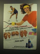1984 Secret Deodorant Ad - Woman's Perspiration