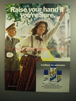 1984 Sure Deodorant Ad - Raise Your Hand