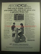 1984 Universal Fitness Products Aerobicycle Ad