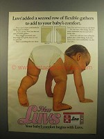 1984 Luvs Diapers Ad - Second Row of Flexible Gathers