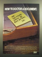 1984 3M Post-it Notes Ad - How to Doctor a Document