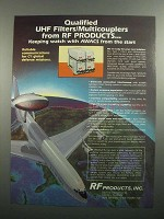 1984 RF Products UHF Filters/Multicouplers Ad