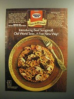1984 Minute Rice Ad - Beef Stroganoff Recipe