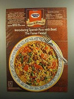 1984 Minute Rice Ad - Spanish Rice with Beef recipe