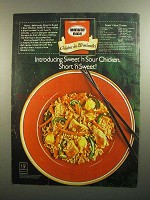 1984 Minute Rice Ad - Sweet 'n Sour Chicken