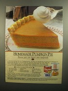 1984 Carnation Evaporated Milk & Libby's Pumpkin Ad