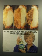 1984 Wesson Vegetable Oil Ad - Florence Henderson