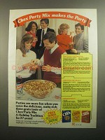 1984 Ralston Chex Cereal Ad - Party Mix Makes the Party