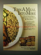 1984 Uncle Ben's Long Grain & Wild Rice Ad - A Meal