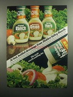 1984 Hidden Valley Ranch Dressings Ad - At Last