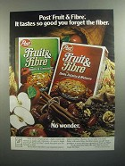 1984 Post Fruit & Fibre Cereal Ad - Forget the Fiber