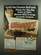 1984 Leaf Whoppers Candy Ad - Whoppers Ice Cream Torte