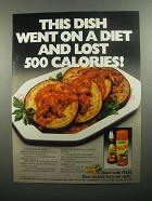 1984 Pam Spray Ad - Went on a Diet Lost 500 Calories